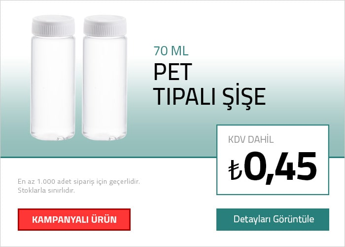 70 ML Pet Tıpalı Şişe