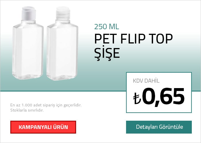 250 ML Pet Flip-Top Şişe